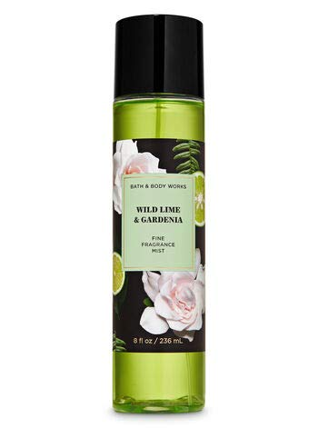 Bath and Body Works WILD LIME & GARDENIA Gift Set - Body Cream - Fragrance Mist & Shower Gel -Full size