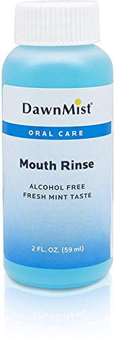 Dukal Mouth Rinse. Set of 4 Mouthwashes 2 oz. Mint Mouth Rinse for Oral Hygiene. Alcohol-Free. Oral Rinse with Fresh Mint Flavor. Travel Size Twist Cap Bottles.