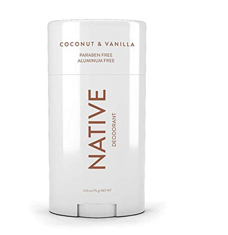 Native Deodorant - Natural Deodorant for Women and Men - Vegan, Gluten Free, Cruelty Free - Aluminum Free, Free of Parabens & Sulfates - Coconut & Vanilla