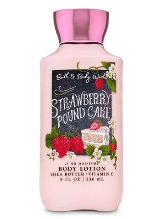 Bath and Body Works - Strawberry Pound Cake - Daily Trio - Shower Gel, Fine Fragrance Mist & Super Smooth Body Lotion- New 2020