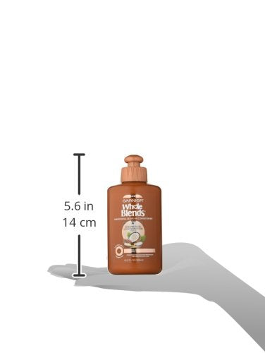 Garnier Whole Blends Smoothing Leave In Conditioner, Coconut Oil & Cocoa Butter 10.2 Fl Oz (1 Count)