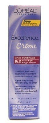 L'Oreal Excellence Creme Color # 9-1/2.13 Extra Light Beige Blonde 1.74 oz. (Case of 6)