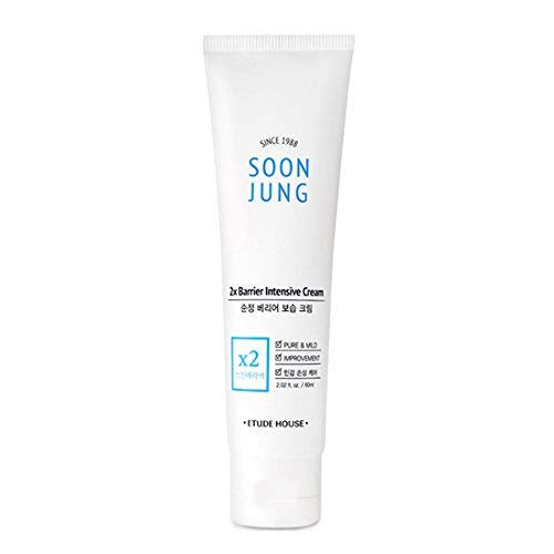 Etude House Soon Jung 2x Barrier Intensive Cream 60ml   Hypoallergenic Shea Butter Hydrating Facial C