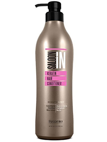 Recamier Salon'IN Keratin Hair Conditioner | Acondicionador de Queratina Usado Por Profesionales 33.8 Ounce 1000 Mililiters
