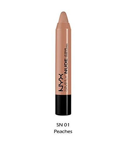 1 NYX Simply Nude Lip Cream Lipstick_SN 01 - Peaches