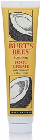 Burt's Bees Coconut Foot Creme with Vitamin E, 4.34-Ounce Tubes (Pack of 2)