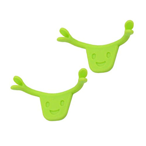 Exceart 2PCS Face Smile Maker Smile Beauty Face Lift Muscle Training Mouth Exerciser Smile Beauty Tool (Green)