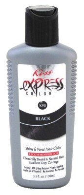 Kiss Express Color #K98 Semi Permanent Black 3.5 Ounce (103ml) (6 Pack)