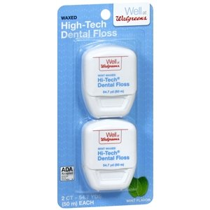 Walgreens Hi-tech Dental Floss 54.7 Yards (Pack of 6)