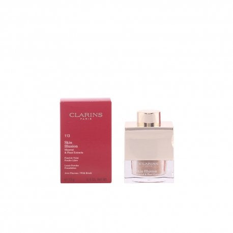 Clarins - Skin Illusion Mineral & Plant Extracts Loose Powder Foundation (With Brush) - # 113 Chestnut - 13g/0.4oz