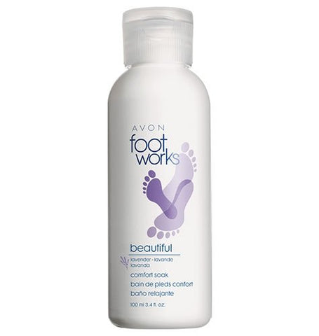 Avon Footworks Lavender Foot Soak Beautiful Comfort 3.4 Oz Tired Dry Feet