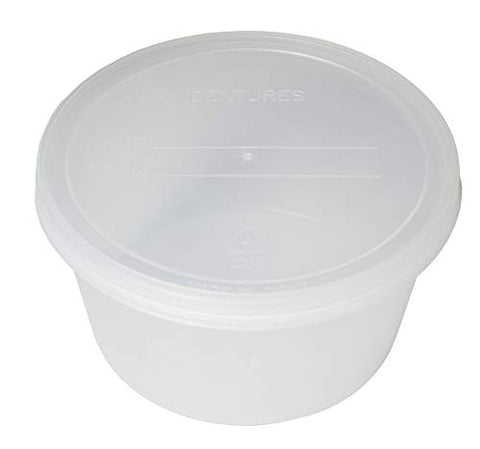 Dukal Pack of 25 Denture Bath Case Cups. Translucent Dental Orthodontic Retainer. False Teeth Storage Case Box. Perfect to Safe Guard Dentures. Easy to Open.