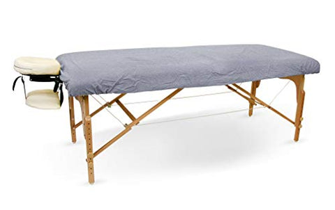 SPA Massage Table Flannel Fitted - Stretch Sheets 100% Cotton (Gray)