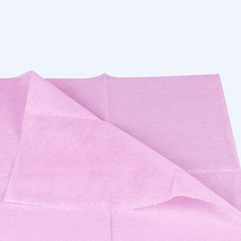 Exceart 10PCS Disposable Bedsheets Nonwoven Bed Sheets Single Use Bed Cover for Hospital SPA Hotel Salon (Pink)