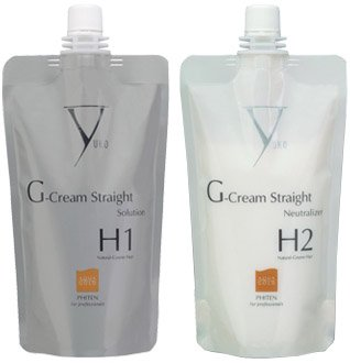 Yuko G-Gream Straight Natural-Coarse Hair - Solution & Neutralizer Set (H1 / H2)