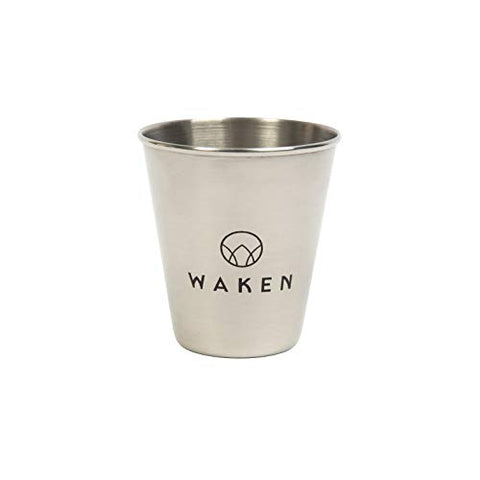 Waken Stainless Steel Mouthwash Cup, 70 ml