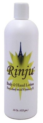 Rinju Body & Hand Lotion 16 Ounce Enriched With Vitamin-E (473ml) (2 Pack)