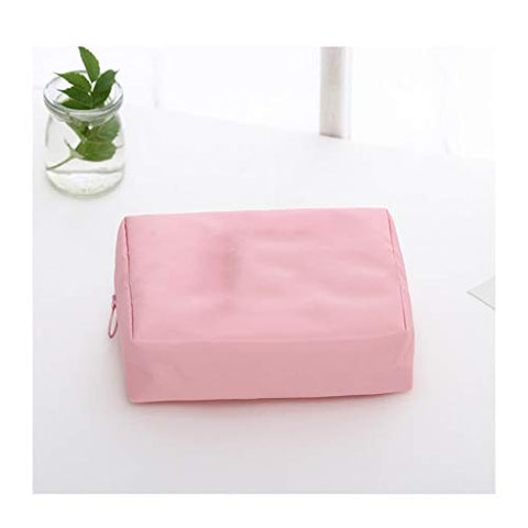 Washing Cosmetic Bag, Travel, Going Out, Must Travel, Seaside Beach Vacation, Travel Goods (Color : Pink B)