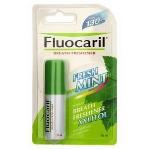 Fluocaril Mouth Spray Instant Breath Freshener Fresh Mint Sugar Free 15 Ml (0.51 Fl.oz) 1 Pcs
