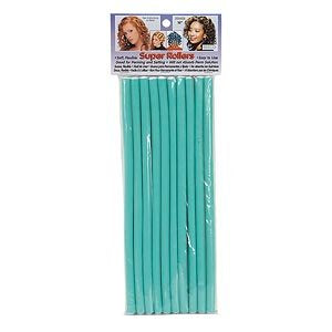 Super Rollers Flexible Rods Light Green Long 9.5