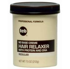 TCB No Base Creme Hair Relaxer Regular 7.5oz