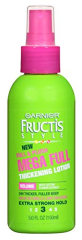 Garnier Fructis Full & Plush Mega Full Thicken Lotion 5 Ounce (145ml) (6 Pack)