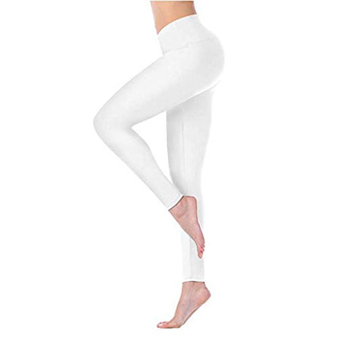 haoricu Yoga Pants for Women High Waisted Workout Athletic Gym Exercise Running Leggings White