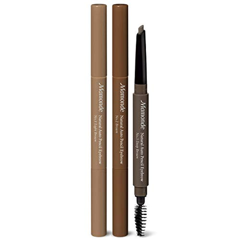 Mamonde Natural Auto Pencil Eyebrow Brush Makeup 02 Brown, 0.3 g