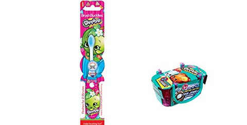 Shopkins Toothbrush Flashing Light And Bonus Shopkins Season 3 Single Blind Basket Bundle  2 Items