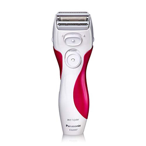 Panasonic Electric Shaver for Women, Cordless 3 Blade Razor, Pop-Up Trimmer, Close Curves, Wet Dry Operation, - ES2207P