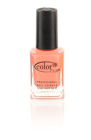 Color Club Nail Lacquer In Theory, Nail Collection, Medium Coral Color .5 fl oz (15 mL)