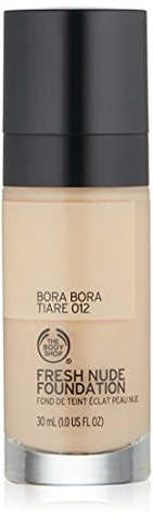 The Body Shop Fresh Nude Foundation, Shade 12 Bora Bora Tiare, 1 Fluid Ounce