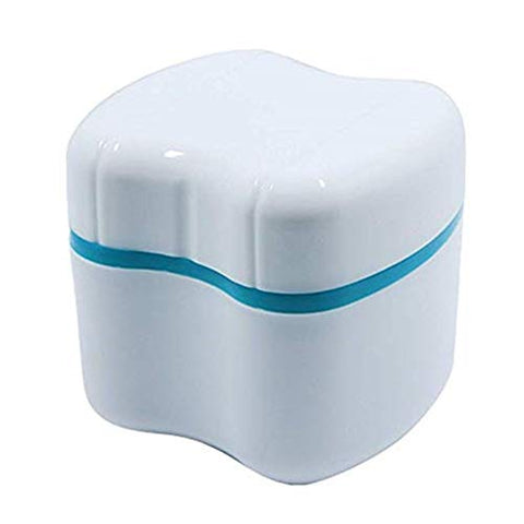 Zhangzhiming Denture Storage Box Denture Case Denture Cup Denture Box with Strainer for Cleaner Store and Retrieve