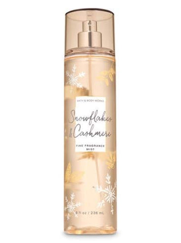 Bath and Body Works - Snowflakes & Cashmere - Daily Trio - Gift Set - Shower Gel, Fine Fragrance Mist and Body Lotion  (2019 Edition)