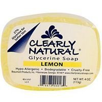 Clearly Natural Glycerine Bar Soap Lemon - 4 oz