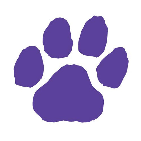 Purple Paw Print Temporary Tattoos I Pack of 100 I Made in USA