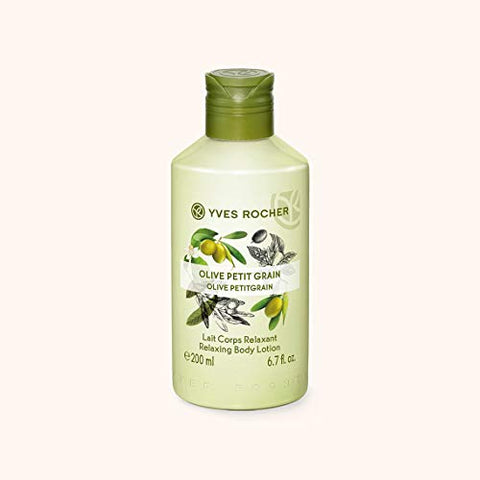 Yves Rocher Relaxing Bath & Shower Gel - Olive Petitgrain, 200 ml./6.7 fl.oz. +Relaxing Body Lotion - Olive Petitgrain, 200 ml./6.7 fl.oz. (Set)