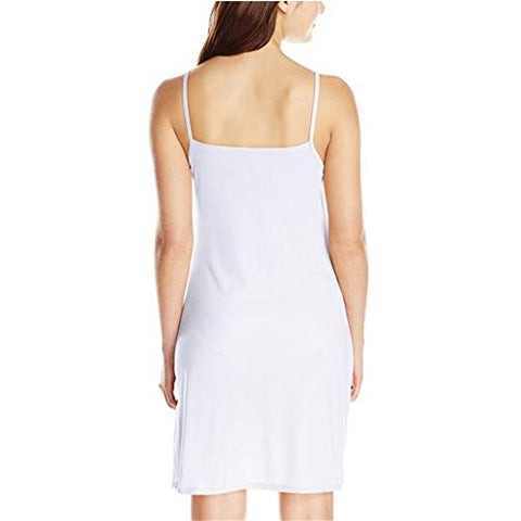 Xinantime Womens Ladies Sleeveless Solid Colour Above Knee Dress Loose Party Dress (White,XL)