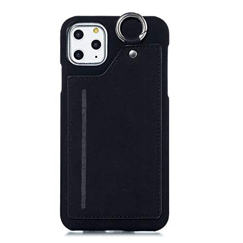 Flip Case Fit for iPhone 11, Card Holders Extra-Shockproof Kickstand black Leather Cover Wallet for iPhone 11