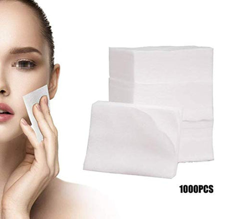 Mirea (1000PCS) White Breathable Non-woven Disposable Fabric Slim Thin Makeup Facial Soft Cotton Pads Face Deep Cleaning Paper Wiper for Make up Cosmetic Nail Polish Removing Skin Care Beauty Tools