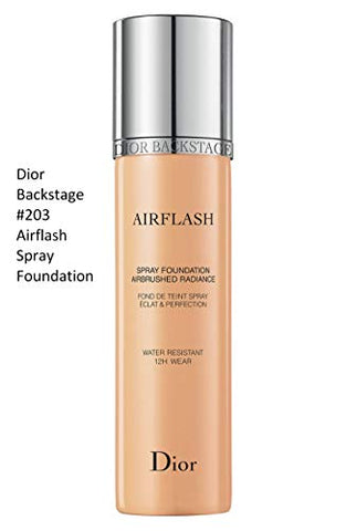 Dior Backstage Airflash Spray Foundation 203 Ochre Beige (Light: warm peach undertones) 2.3 oz