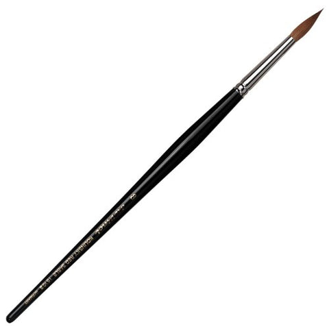 da Vinci Nails Series 15102 Acrylic Technique Nail Brush, Round Kolinsky Red Sable with Lacquered Handle, Size 8