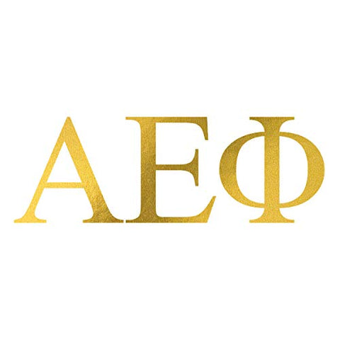 Alpha Epsilon Phi Ltrs Temporary Tattoos (10-Pack) | Skin Safe | MADE IN THE USA| Removable