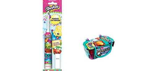 Shopkins Sonic Powered Toothbrush And Bonus Shopkins Season 3 Single Blind Basket Bundle  2 Items