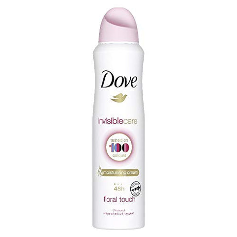 Dove Invisible Care, Floral Touch Antiperspirant Deodorant Spray, 150ML, 30.42 Fl Oz (Pack of 6)