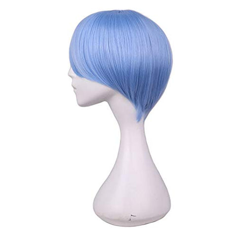 Cosplay Wig Multi-Color Wan With Face Short Hair Msn Black And White Short Hair Bobobo