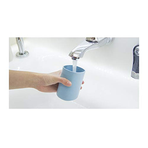 Travel Wash Cup Multi-function Household Toothbrush Toothpaste Travel Portable Couple Mouth Mug Cup (Color : Blue)