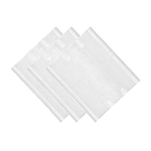 Premium Professional 100% All Natural Facial Cotton Square Pad - Makeup Face Cleansing Pad -Hypoallergenic - No fillers - Soft Edge - 222 Count/ 2pcs Set