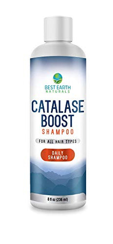 Catalase Boost Shampoo Daily Catalase Shampoo For Younger, Thicker, Fuller Looking Hair Made With the Anti-Aging Enzyme Catalase For Men & Women By Best Earth Naturals 8 oz