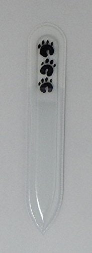 Paw Prints Hand Painted Genuine Czech Republic Crystal Nail File - Large